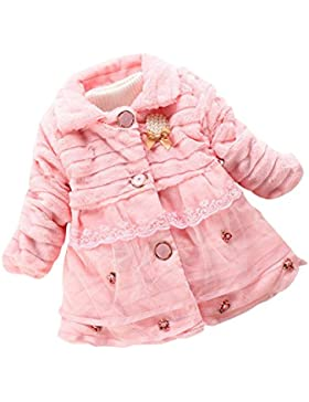 Wongfon Baby Mädchen Winter Herbst Blumen Spitze Jacke Kind Parka Mantel Oberbekleidung