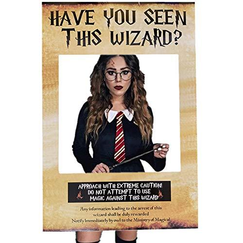 JeVenis Haben Sie diesen Assistenten gesehen? Photo Booth Prop Harry Potter inspiriert Photo Booth Frame Harry Potter Geburtstagsparty Photo Booth Requisiten für Harry Potter Theme Party Dekorationen