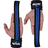 APRODO Weight Lifting Wrist Support Wraps Straps Neoprene Padded (Blue)