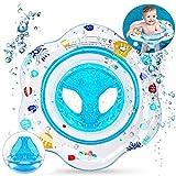 SPECOOL Baby Schwimmring, aufblasbare Schwimmsitz Hilfe Kleinkind Sicherheitshilfe Float Sitzring für 3 Monate-3 Jahre Kinder (blau)