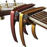 Capodastre pour guitare (Lot de 2) pour guitare, ukulélé, banjo, mandoline, Guitare...