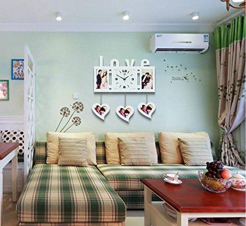 Y & M romantique salon moderne minimaliste horloge photo orologio-camera de lit tranquille au quartz horloge blanc