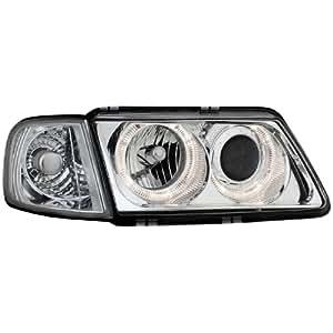 Dectane SWA03D Lot de 2 phares avec anneaux lumineux pour Audi A3 8L entre septembre 1996 et 2000 (Chromé)