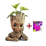 Asamoom Baby Groot Vaso di Fiori - Marvel Action Figure dei Guardiani della Galassia per Piante e Penne - Perfetto Come Regalo