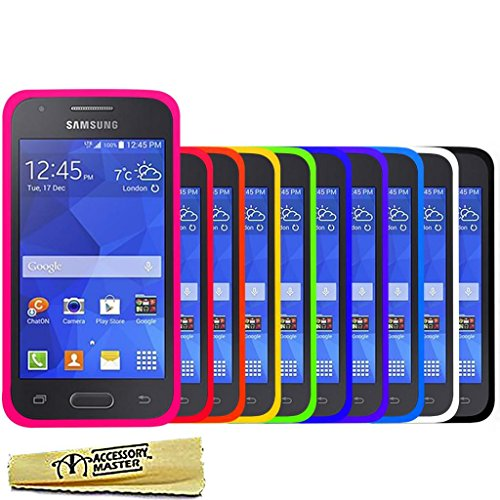 Accessory Master Pack de 10 Housses en silicone pour Samsung galaxy Ace 4 Multicolore