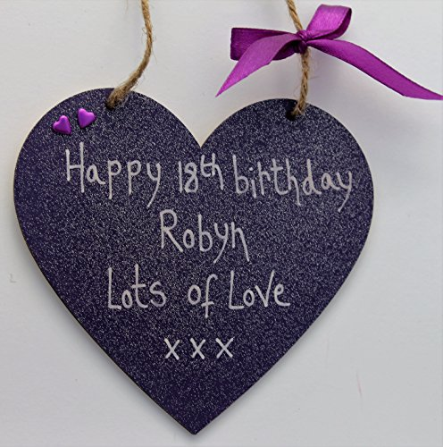 Personalised Wooden Heart Gift 1st 18th 21st 30th 40th 50th 60th Birthday