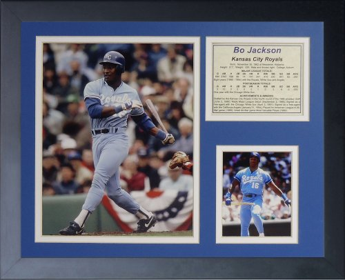 Legenden Sterben Nie BO Jackson Kansas City Royals gerahmtes Foto Collage, 11x 35,6cm