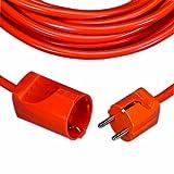 REV Ritter 0016101814 - Prolunga con contatto di protezione H05VV-F in plastica, 10 m, colore: Arancione