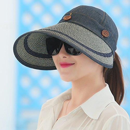 SSBY Frauen-Sommer-sunshade-Fahrradhelm, Outdoor, Sonnenschutz Sonnenschutz, faltbar, große Eaves Hat, D