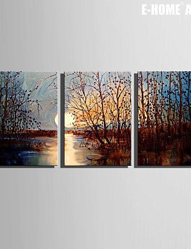 SDYJQ Keilrahmen Kunst Sonnenuntergang Sumpf Dekoration Malerei von 3, 14