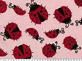 ab 1m: Superflausch, Käfer, rosa-rot, 150cm breit