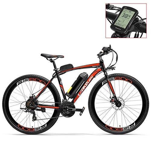 LANKELEISI RS600 700C Asistente de Pedal Ebike, batería 36V 20Ah, Motor 300W, Marco de aleación de Aluminio, Bicicleta de Carretera,...