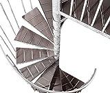 Intercon® K2 Wood Edition Außentreppe Stahltreppe WPC Durchmesser 120/140 / 160/180 / 200 cm in braun oder anthrazit (120 cm, Havanna-Braun)