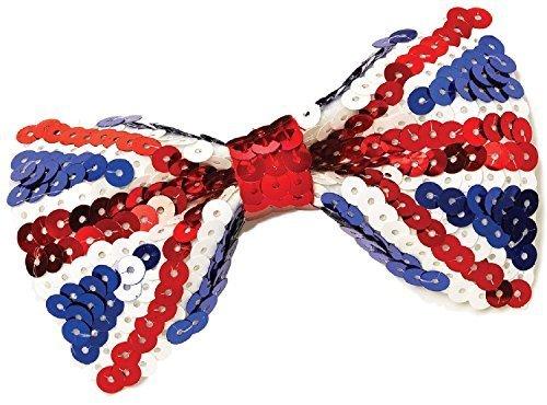 Damen Herren UK Union Jack Britische Großbritannien Königliche Hochzeit Party Pailletten Fliege Kostüm Kleid Outfit Zubehör (Königliche Hochzeit Kostüm)