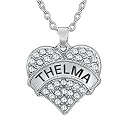 """Matching Set """"Thelma and Louise"""" Silver Tone Heart Necklaces Clear crystals for Best Friends BFF Besties Sisters by GGG"""