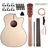 Shsyue®40 Pouces DIY Kit de Guitare Folk Acoustique Naturel
