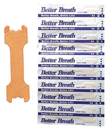 Nasenpflaster Premium - Klein / Mittel (Small / Medium) - Sunglow Better Breathe - Gegen Schnarchen - (100 Stück)