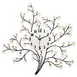 iJIAHOMIE Wandaufkleber groß Uhren Style Raum Home Dekorationen,StillenArt-Deco-Quarz
