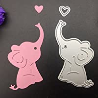 Timeracing DIY Cute Cartoon Elephant Carbon Steel Cutting Die Paper Cloth Scrapbook Stencil - Silver