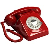 Téléphone GPO 746 Rotary - Rouge