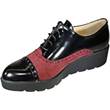 Amazon.es  zapatos oxford mujer charol - Multicolor 046e6dafe2cc