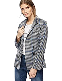 Debenhams Red Herring Womens Black and White Houndstooth Checked Double Breasted Jacket