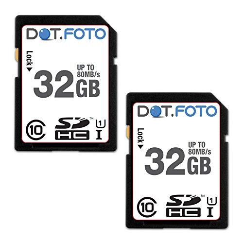 dotfoto-scheda-di-memoria-alta-velocita-sdhc-da-32-gb-fino-a-80-mb-sec-classe-10-uhs-1-2-pezzi-per-p