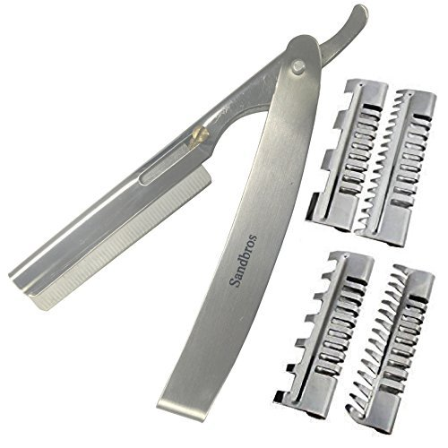 Professional Hair Shaper Rasierer Kamm Salon Friseur Styling Haar Effilierschere Tools (THR8 Set)