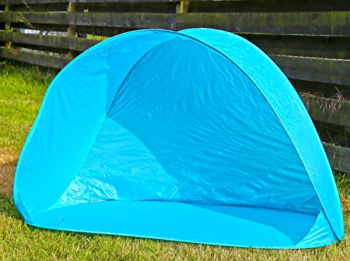 Preisvergleich Produktbild Strandmuschel Blau Sonnenschutz Zelt Popup Wurfzelt UV Schutz