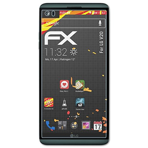 atFolix Schutzfolie kompatibel mit LG V20 Bildschirmschutzfolie, HD-Entspiegelung FX Folie (3X)