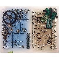 Lunji Gear DIY Silicone Clear Stamp Cling Seal álbum De Recortes En Relieve álbum Decoración Artesanía
