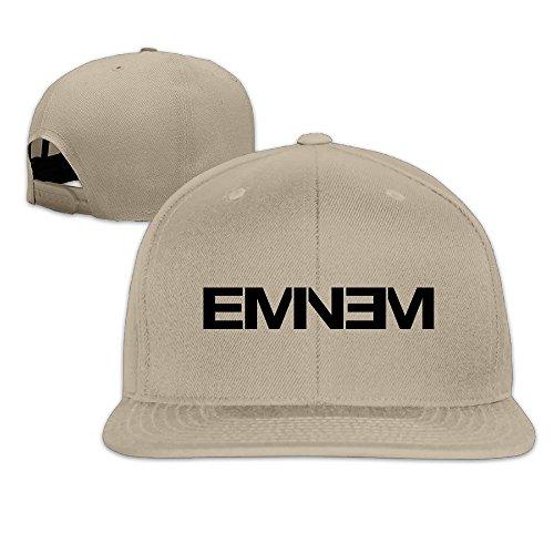 Huseki Eminem Double M M&M Rapper Record Producer Songwriter Actor Flat Bill Snapback Adjustable Sports Caps Natural Natural