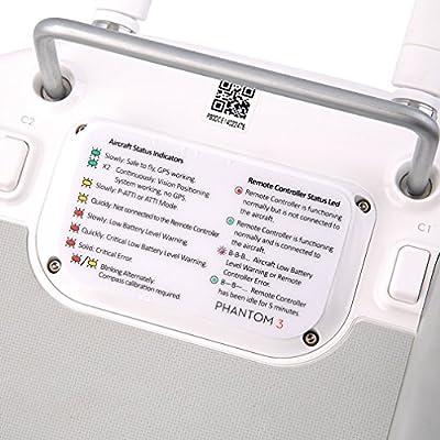 BlueBeach® Instuction Sticker Controller for DJI Phantom 3