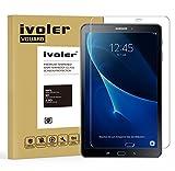 Samsung Galaxy Tab A 10.1'' 2016 (SM-T580N) Protector de Pantalla Cristal, iVoler® Film Protector de Pantalla de Vidrio Templado Tempered Glass Screen Protector para Samsung Galaxy Tab A 10.1'' 2016 (SM-T580N) - Dureza de Grado 9H, Espesor 0,30 mm, 2.5D Round Edge-[Ultra-trasparente] [Anti-golpe] [Ajuste Perfecto] [No hay Burbujas]- Garantía Incondicional de 18 Meses