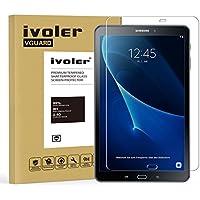 Samsung Galaxy Tab A 10.1 (T580N/T585N) Protector de Pantalla Cristal, iVoler Film Protector de Pantalla de Vidrio Templado Tempered Glass Screen Protector para Samsung Galaxy Tab A 10.1 (T580N/T585N) - Dureza de Grado 9H, Espesor 0,30 mm, 2.5D Round Edge-[Ultra-trasparente] [Anti-golpe] [Ajuste Perfecto] [No hay Burbujas]- Garantía Incondicional de 18 Meses