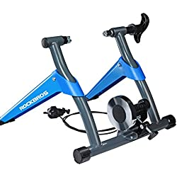 ROCKBROS Home Trainer Vélo Smart Entraîneur Réglable Turbo de Vélo Route VTT Noir Bleu