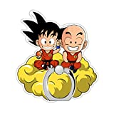 MIM Global Dragon Ball Z Super GT Phone Anillo Ring Finger Holder Grip Soporte Keyring Compatible con Todos Movil Mobile Telefono Phones Tablets Dispositivos Devices (Besties)
