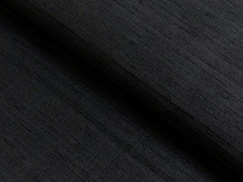 Fabrics-City SCHWARZ DUPIONSEIDE 100%SEIDE STOFF SEIDENSTOFF STOFFE METERWARE, 4273 -