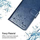OCASE iPhone XR Case, Premium Leather iPhone XR case[TPU Shockproof Interior Protective Case] Flip Leather Wallet Phone Case - For the 6.1 inch iPhone XR -Blue