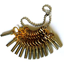 MKCLOCKS Set Of 14 Pocket Watch Keys Sizes 00 - 12