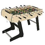 JH Table Baby-foot Pliable avec accessoires Babyfoot 121*61*81cm