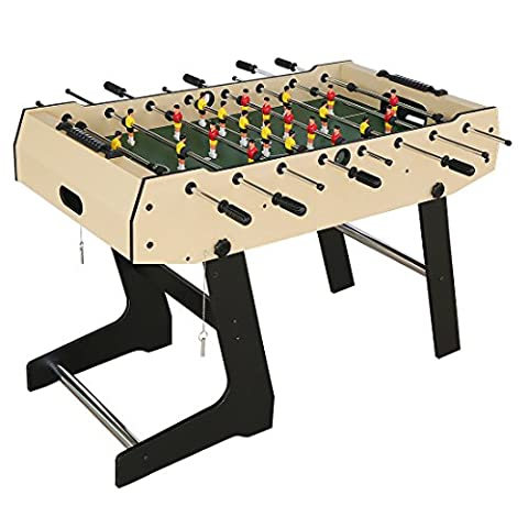 HLC Folding Soccer Table Football Table-Wooden Grain PVC Football Table,Table Soccer Games