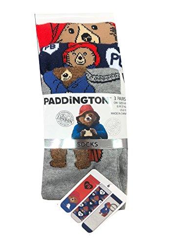 Ladies Women Socks Paddington Bear size UK 4-8, EUR 37-42