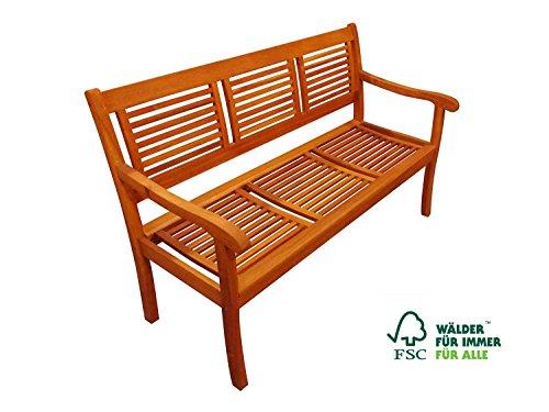 SAM 3-Sitzer Gartenbank Cordoba, 150 cm, Akazie Holz-Bank, FSC zertifiziert