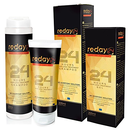 REDAY24 - TRAITEMENT ANTI-CHUTE CHEVEUX - GEL + SHAMPOO - GEL COIFFANT ANTI-CHÛTE + SHAMPOOING ANTI-CHÛTE - Reday24 Total Gel + Reday24 Total Shampoo
