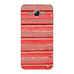 Red Woodlock Print Back Case Cover for Samsung Galaxy E5