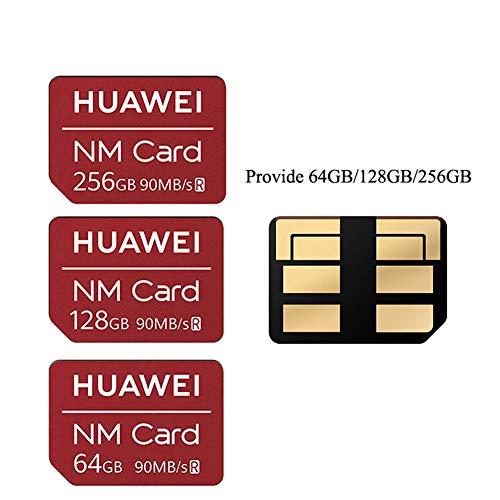 JIAX NM-Karte 90 MB/S 64 GB / 128 GB / 256 GB Für Mate20 Pro Mate20 X P30 mit USB3.1 Gen 1 Nano-Speicherkartenleser,64gb