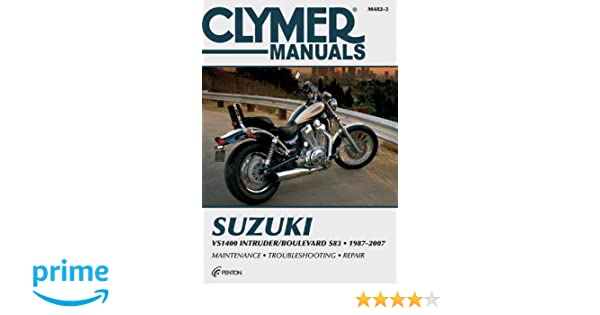 clymer suzuki intruder vs1400 boulevard s83 1987 2007 repair rh amazon co uk suzuki intruder 600 manual Suzuki 800
