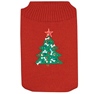 Christmas Tree Flashing Light Dog Sweater EXTRA SMALL by Pet-Bliss