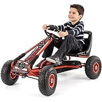 Charles Bentley Kids Go-Kart Neumáticos Grandes del Rojo y Negro Pedal de Freno de Mano Engranaje de Goma 3+